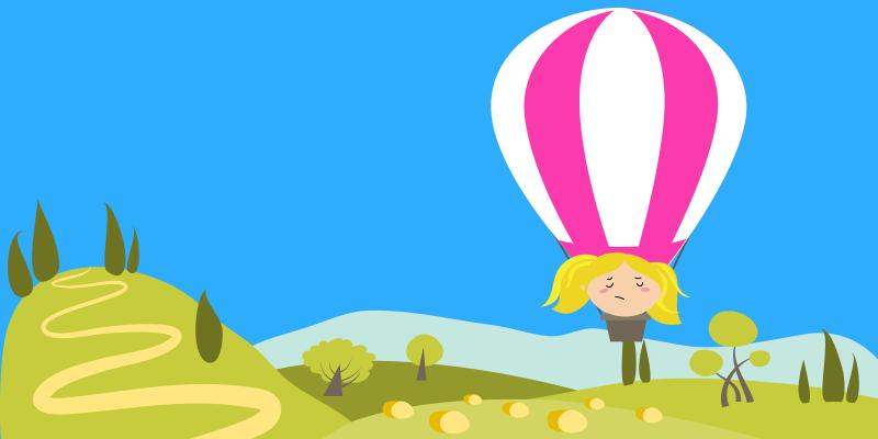 Goldilocks in air balloon looking for path