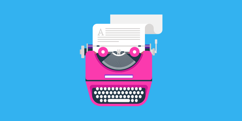 Typewriter Header