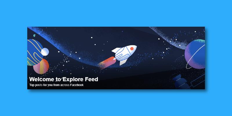 Facebook Explore Feed