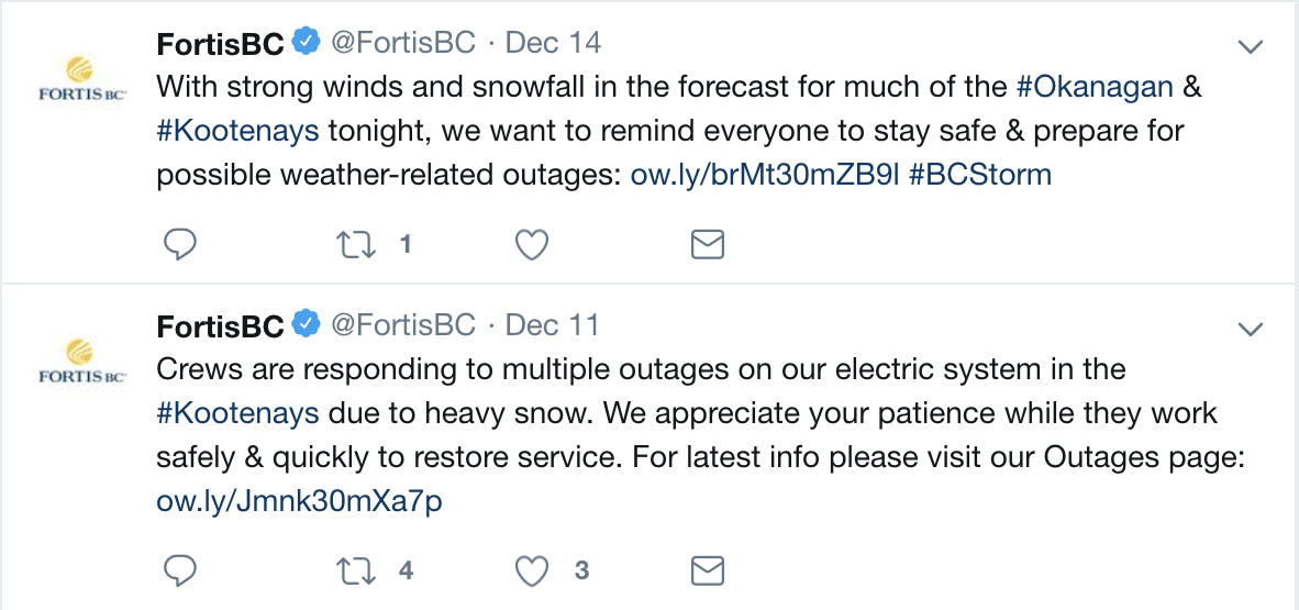 Fortis Customer Service Tweets