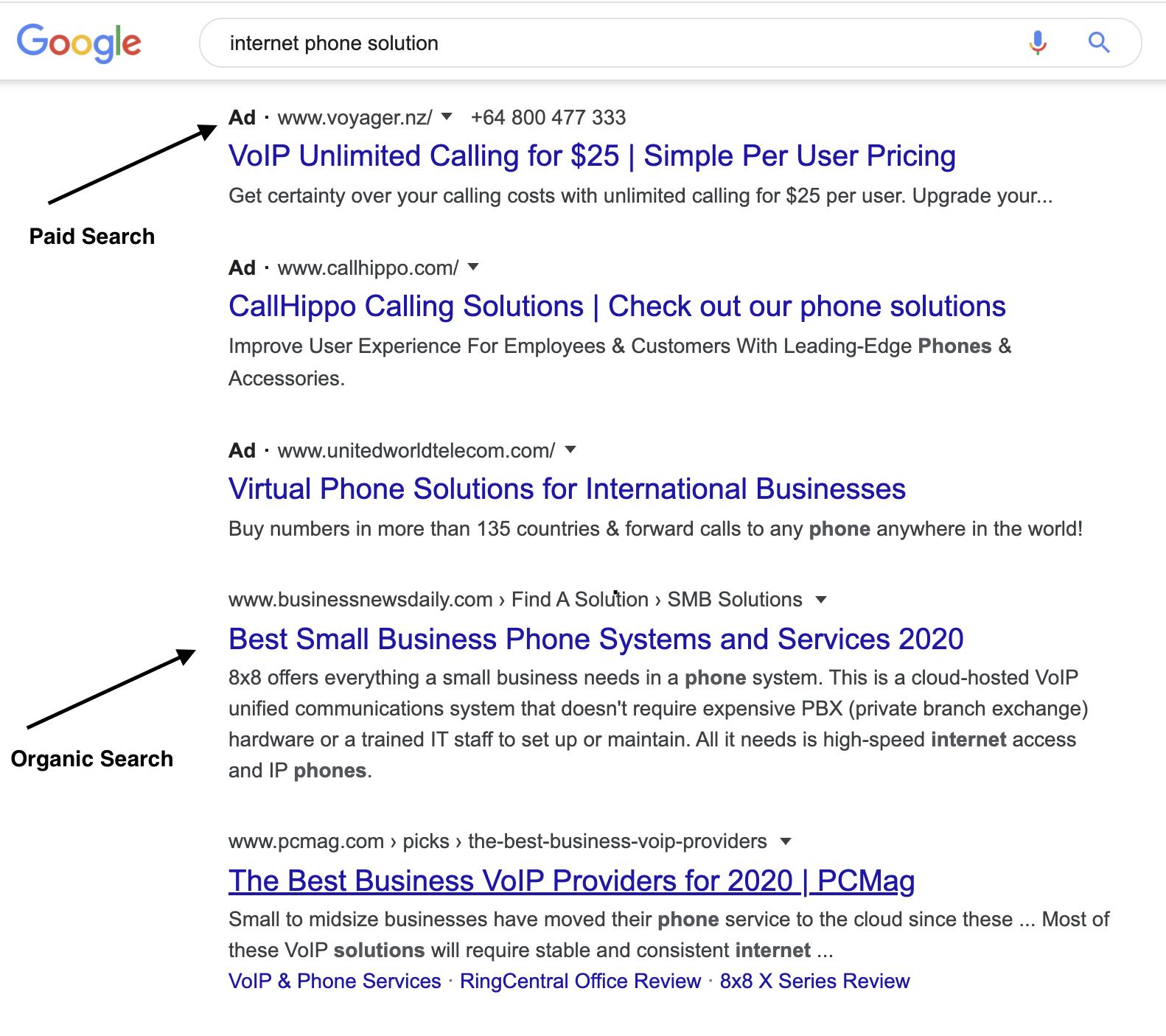 paid search vs organic search